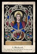 santino incisione 1800 S.MICHELE ARC.  dip.a mano