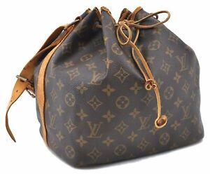 Authentic Louis Vuitton Monogram Petit Noe Shoulder Bag M42226 LV C5292
