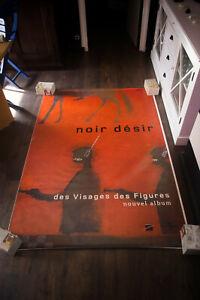 NOIR DESIR DES VISAGES 2001 4x6 ft Shelter Original Music Concert Poster Art