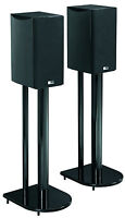 """24"""" Universal Home Theatre Speaker Stand Pair with High Gloss Black Finish"""