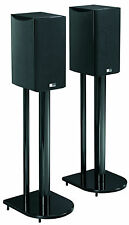 "24"" Universal Home Theatre Speaker Stand Pair with High Gloss Black Finish"