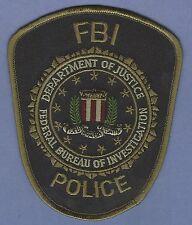 FEDERAL BUREAU OF INVESTIGATION FBI POLICE PATCH GREEN