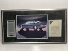 Vintage Concept Merkur Framed Display Edsel Ford