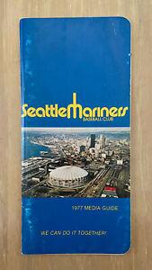 VINTAGE 1977 MLB SEATTLE MARINERS FIRST SEASON BASEBALL MEDIA PRESS GUIDE 1ST YR