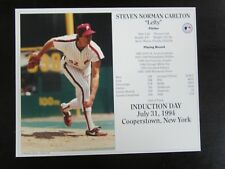Steve Carlton Unsigned 8x10 Induction Day Card Photo Philadelphia Phillies