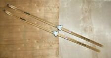 """Vintage WOODEN Skis 'Trak HP 9'  77"""" Long Downhill Cross Country Finland Made"""