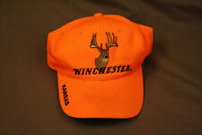 Winchester Hunting Orange Hat Adjustable Cap Kansas 2005 Stains Deer Camp Buck