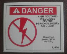 New listing Danger High Voltage Sticker L-304 Electrical Safety Sign. Lot of 100.
