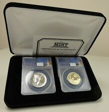 2019 US Mint 2 coin Rocket Ship Set ANACS graded SP69 1/2$ & PR70 $ FIRST DAY
