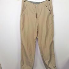 Cloudveil Women Casual Hiking Pants Straight Leg Pockets Zipper Fly Beige Size 8