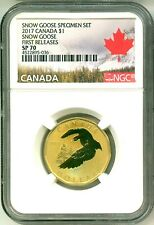 2017 Canada $1 Snow Goose From Snow Goose Specimen Set First Release NGC SP70