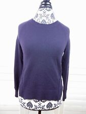 J Brand Cashmere Sweater Womens Extra Small Purple Hi-Low Casual Ladies Knit XS