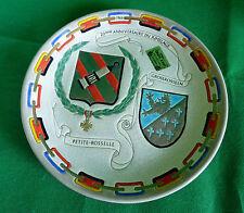 Emaux Longwy Plate Teller  Städtepartnerschaft Petite -Rosselle Großrosseln