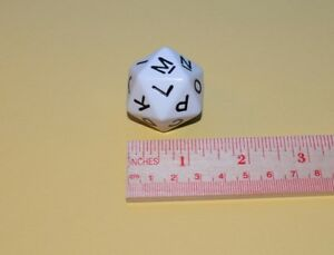 Scattergories 20 Sided Letter Die Dice - Replacement Part  2003 Smaller size