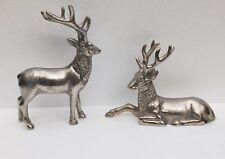 Antler Deer Pair Reindeer Figurine Sculpture Statue Table Centerpiece
