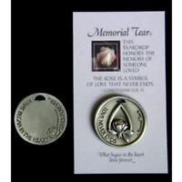 Memorial Tear Pocket Token Inspirational Pocket Token Coin Remembrance MTPT
