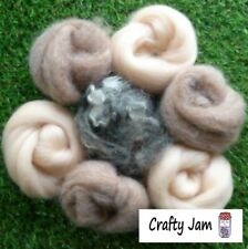Needle Felting Pink Flesh Tones Animal Mix Ideal 3D Projects Felting Wool 45g