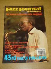 JAZZ JOURNAL INTERNATIONAL VOL 43 #5 1990 MAY JIMMY HEATH JEAN COLDKETTE