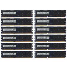192GB Kit 12x 16GB DELL POWEREDGE R910 R915 C1100 C8220 M710hd T710 Memory Ram