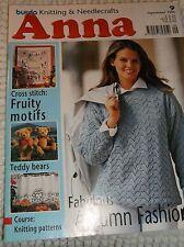 Anna magazine, Burda, 09.1996. Cross-stitch, Embroidery, Knitting, Crochet,