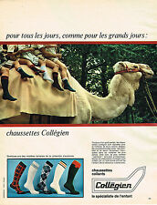 PUBLICITE ADVERTISING 044  1966  COLLEGIEN  chausettes collants enfants