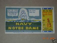 Notre Dame vs. Navy Ticket 10-26-1935 RARE