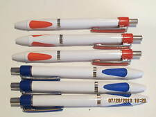 LOT of 6 Gripper Plastic Ballpoint Pens- use Parker, Refillable-Red+Blue