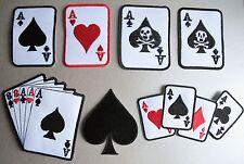 Pikass Spielkarten zum Aufbügeln ACES Herz Diamanten Clubs Poker Hand