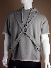 $590 John Galliano Gray Hoodie size Medium | M Short Sleeve Sweats Track Large