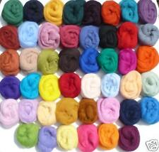 Wool roving $2.95 per ounce you choose colors and qty -felt spin soap wet sliver
