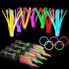"""400 Glow Sticks Bulk Party Supplies - Glow in The Dark Fun Party Pack with 8"""""""