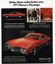 1971 Mercury MONTEGO Bright Red 2-door Coupe VTG PRINT AD