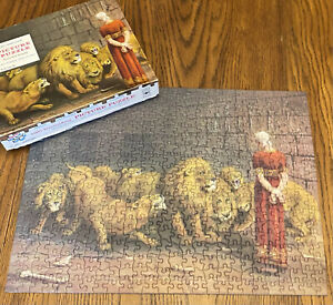 Vtg Tuco Picture Puzzle Daniel In The Lions Den King Size Interlocking Religious