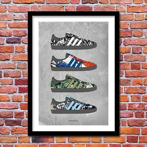 The Stone Roses Trainers Art Print - Football Casuals - A3/A4 Size Poster