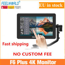 "FEELWORLD F6 PLUS Monitor 5.5"" 3D LUT 4K HDMI Video On Camera For DSLR In Stock"