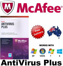 NEW McAfee Anti Virus Plus Activation Card 1 PC 1 Year No Disc Product Key Only