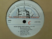 MUSIC FROM WEST AFRICA   BBC Transcription Disc   LP    Very rare !
