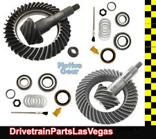 "Ford 9.75"" & 8.8"" IFS 4.56 Ratio Ring and Pinion Gear Set Pkg w PK Install Kits"