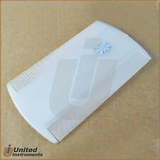 White Lice Hair Comb For Head Lice Dectection Plastic Hair Dust Remover Dual New