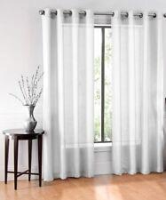 "1PC GROMMET VOILE SHEER WINDOW CURTAIN PANEL DRAPE TREATMENT WHITE RUBY 108"" L"