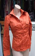 Raoul Fantastic Burnt Sienna Orange Buttton Down Blouse Long Sleeev Shirt Top 6