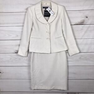 Kasper NWT 6P petite Suit Skirt and Jacket  Champagne Color 200.00