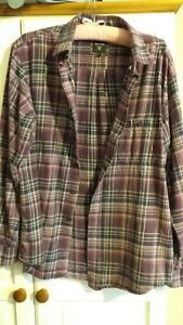 Mens Purple,Checked, Pringle, Shirt. Size L/14/16.