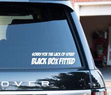 Désolé pour la vitesse de boîte noire ajustée Drôle Autocollant nouveau conducteur Autocollant Vinyle