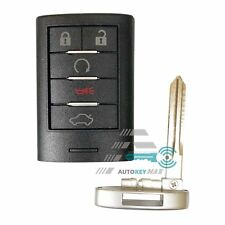 New 5 Buttons Remote Key Fob Case Shell +Key Blank for Cadillac DTS CTS STS XTS