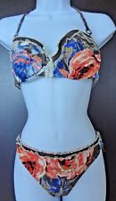 Auth SHAN Multi-Color TWO Piece BIKINI SwimSuit with Matching COVER-Up Dress