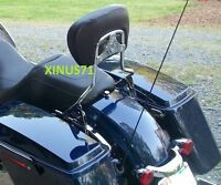 Detachable Backrest Sissy Bar For Harley Touring Street Glide Road Glide 09 - 19
