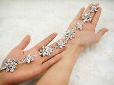 Flora Crystal Applique Rhinestone Wedding Applique Diamante Trim Beaded Motif