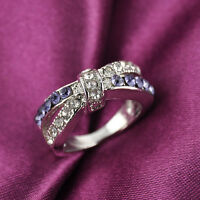 Fashion Amethyst Criss Cross White Gold Filled Ring Size 6-10 Rings Jewelry Sell