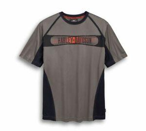 Harley Davidson Men's Performance Knit Tee T-Shirt, Grey, 96786-19VM, 2XL
